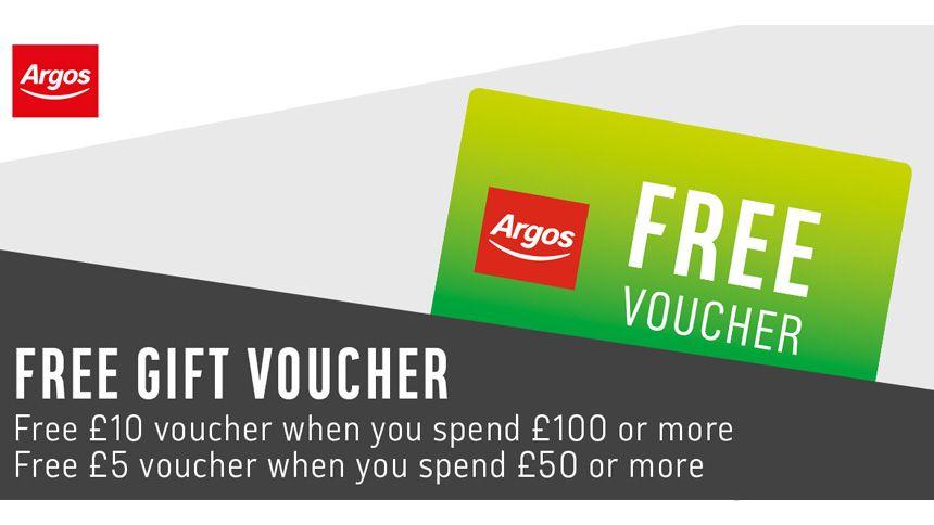 Argos. Free £10 gift voucher
