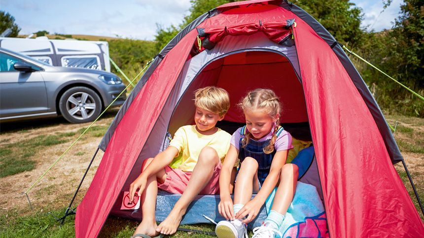 Touring & Camping. Summer breaks from £44 per pitch, per night