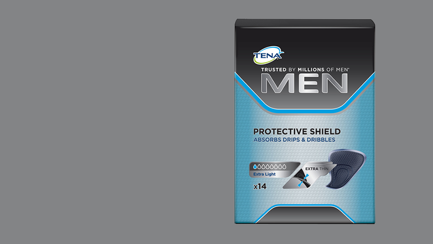TENA. Get a free sample of TENA Men Protective Shield