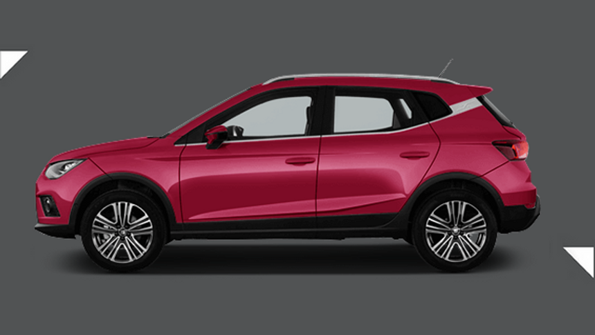 Seat Arona Hatchback. £198 per month inc VAT + 1,000 free excess miles¹