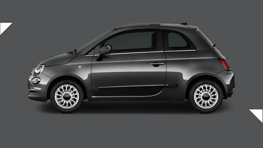 Fiat 500 Hatchback. £131 per month inc VAT + 1,000 free excess miles¹