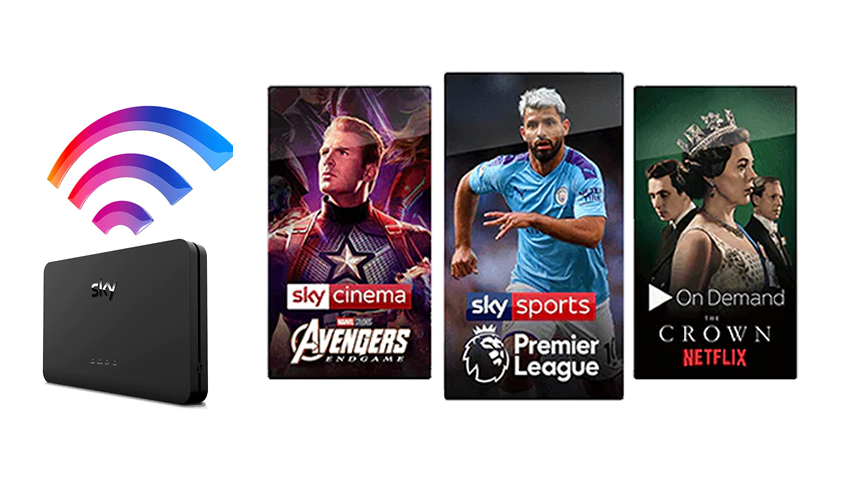 Broadband Superfast + Sky Sports + Sky Cinema. Save £306 over 18 months