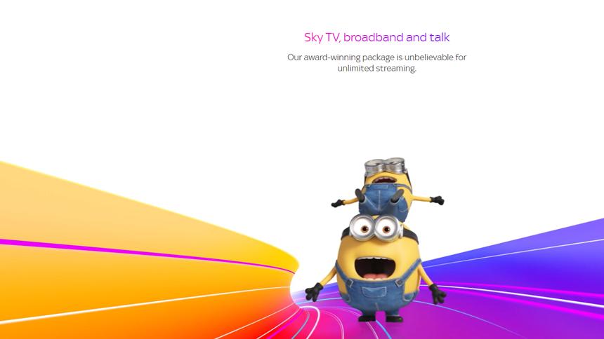 Sky TV + Sky Cinema - Save £14.50 a month