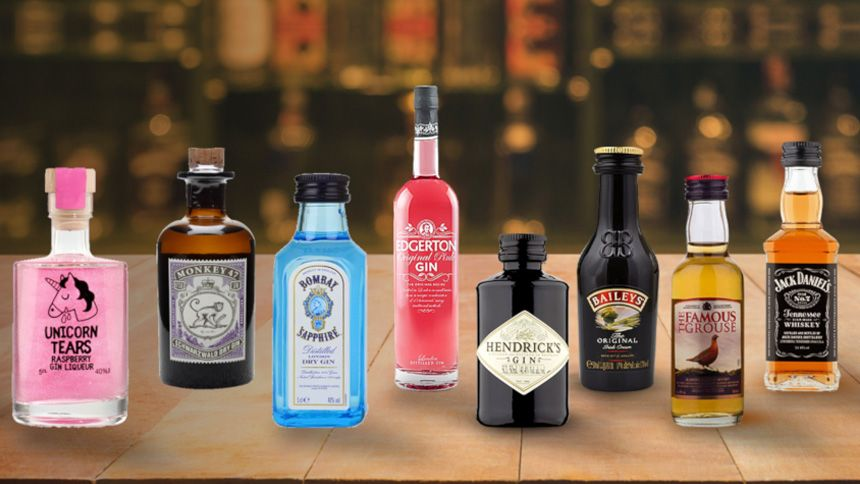 Alcoholic Miniature Bottle Drinks. Get 10% off when you spend £60