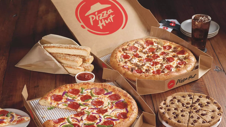 Pizza Hut. 6% cashback